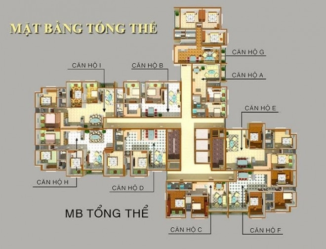 Mặt bằng tầng Cheery Apartment