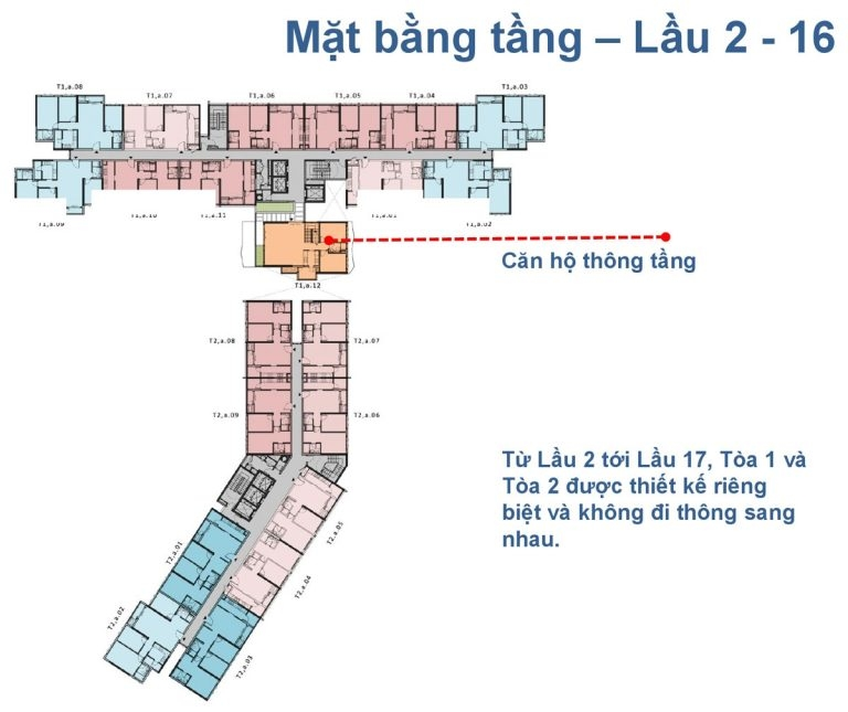 Mặt bằng tầng The Krista