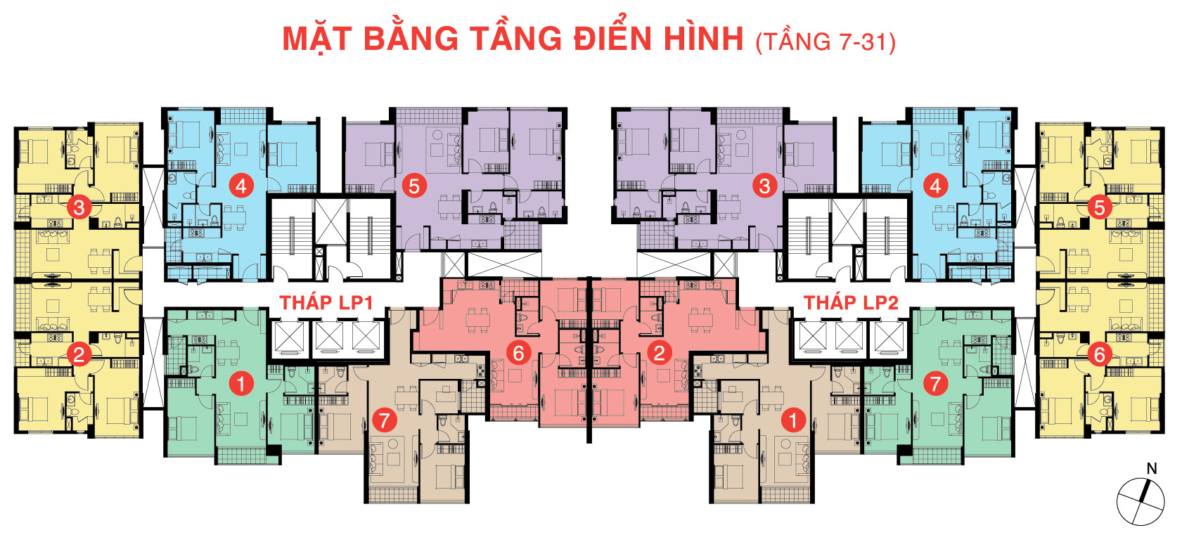 Mặt bằng tầng Lucky Palace