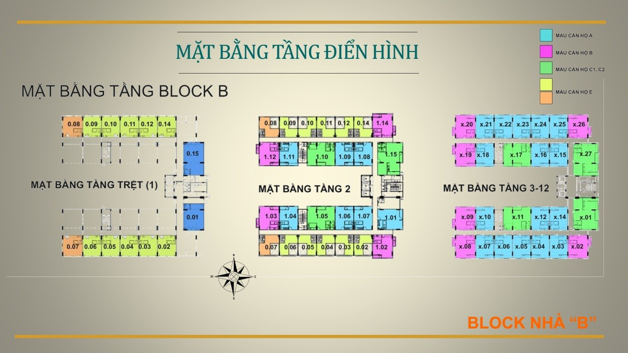 Mặt bằng tầng Ehome S