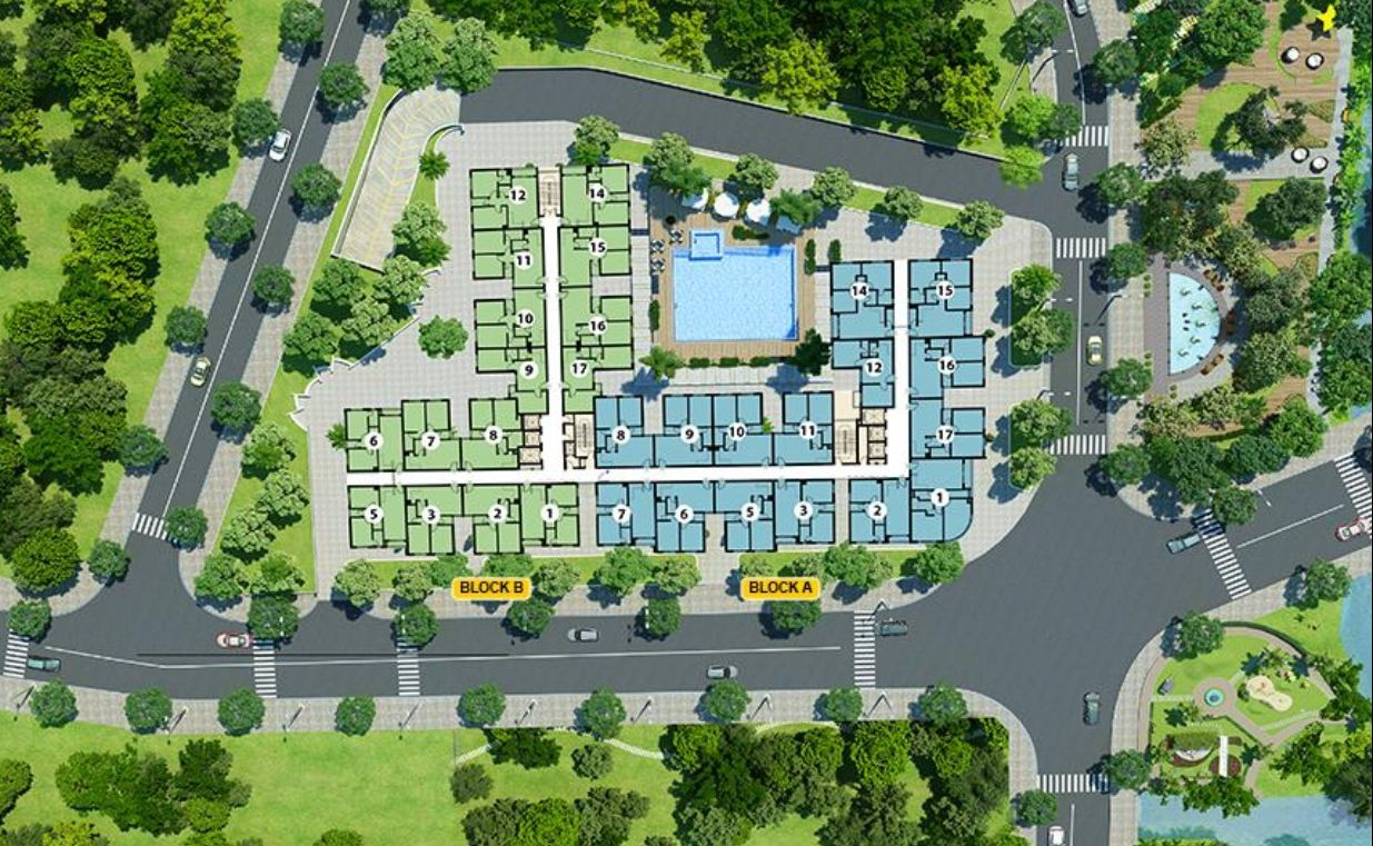 Mặt bằng tầng Dream Home Residence