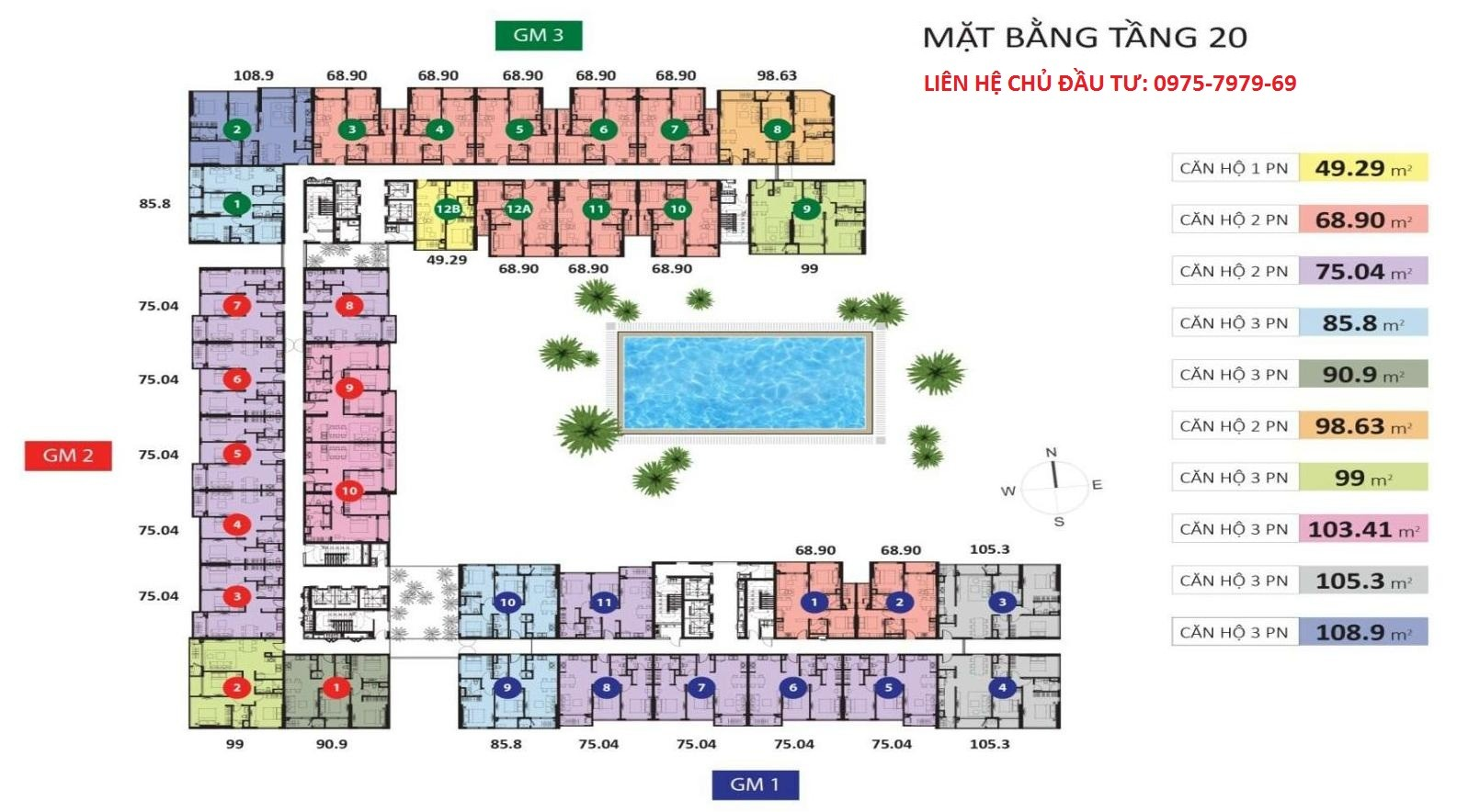 Mặt bằng tầng Golden Mansion