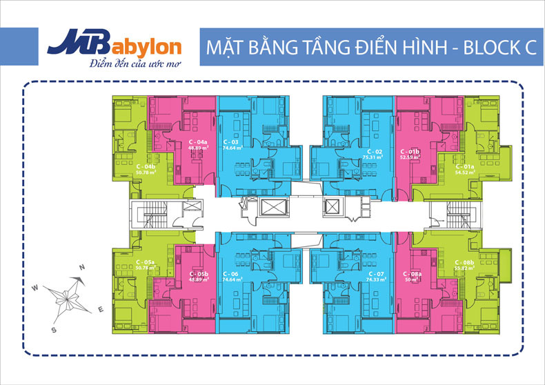 Mặt bằng tầng Investco Babylon